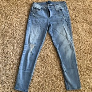 Arizona Jean Co. ripped light washed blue jeans 7